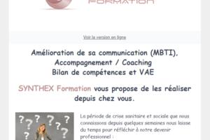 Accompagnements Bilans de compétences VAE SYNTHEX Formation