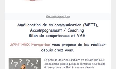 Amélioration de sa communication (MBTI), Accompagnement / Coaching Bilan de compétences et VAE